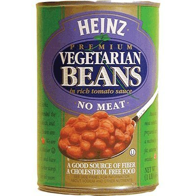 Rich Tomato - Heinz, Premium Vegetarian Beans in Rich Tomato Sauce, No Meat, 16oz Can (Pack of 6) by Heinz