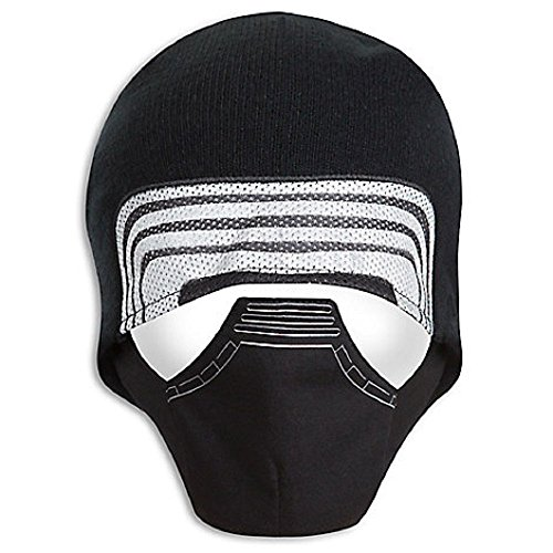 Warm Winter Knit Black Hat Star Wars Boys Kylo Ren Face Costume Hat size Med/Large