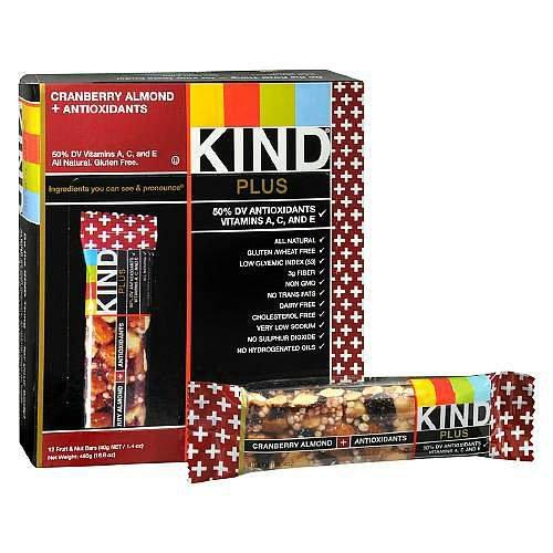 KIND Plus Antioxidants, Cranberry & Almond Snack Bar (Pack of 2) - Kind Plus Cranberry Almond