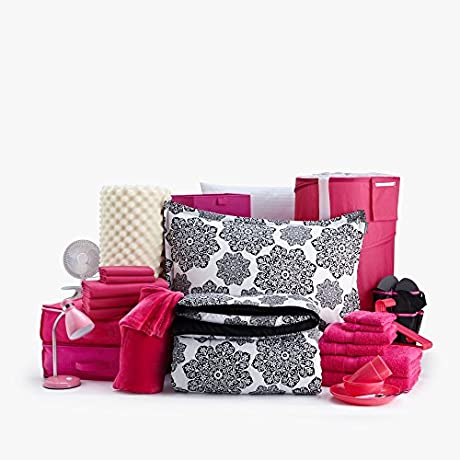 54pc The Good Life Set Twin XL College Dorm Room Bedding All Nighter Pink