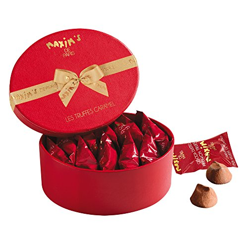 Artisan Cocoa Butter - Maxim's De Paris 10 Caramel French Truffles and Pure Cocoa Butter in Hat-Box 85 g