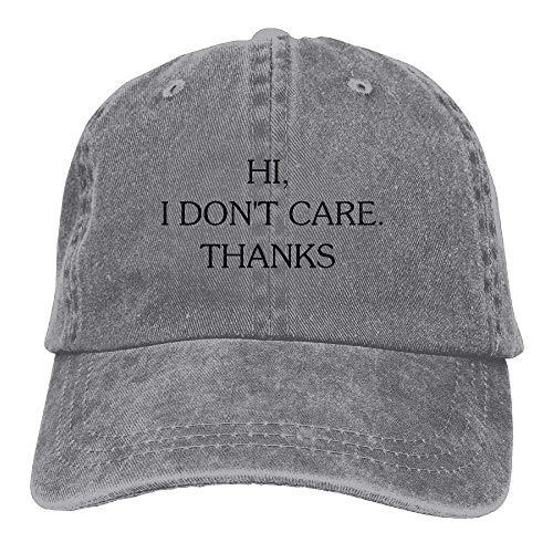 Care Hi Hat Denim Men Cowboy Sport Cap Hats Skull DEFFWB Thanks I Don't for Cowgirl Women wq1xaI