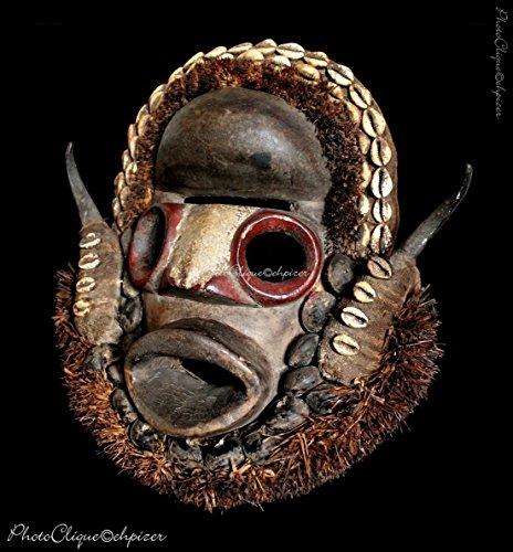 African Art-Tribal Art/ Dan Grebo Face Mask Portrait (#1)/ Ethnographic Series/ Fine Art Photo -