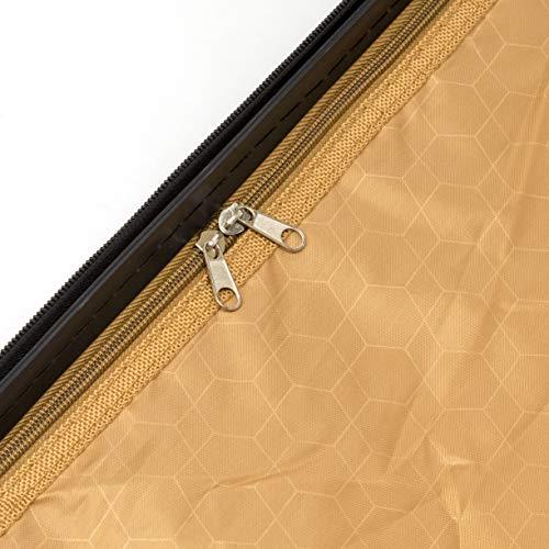 ALEKO LG915BURG ABS Luggage Travel Suitcase Set with Lock 3 Piece Horizontal Stripe Burgundy by ALEKO (Image #6)