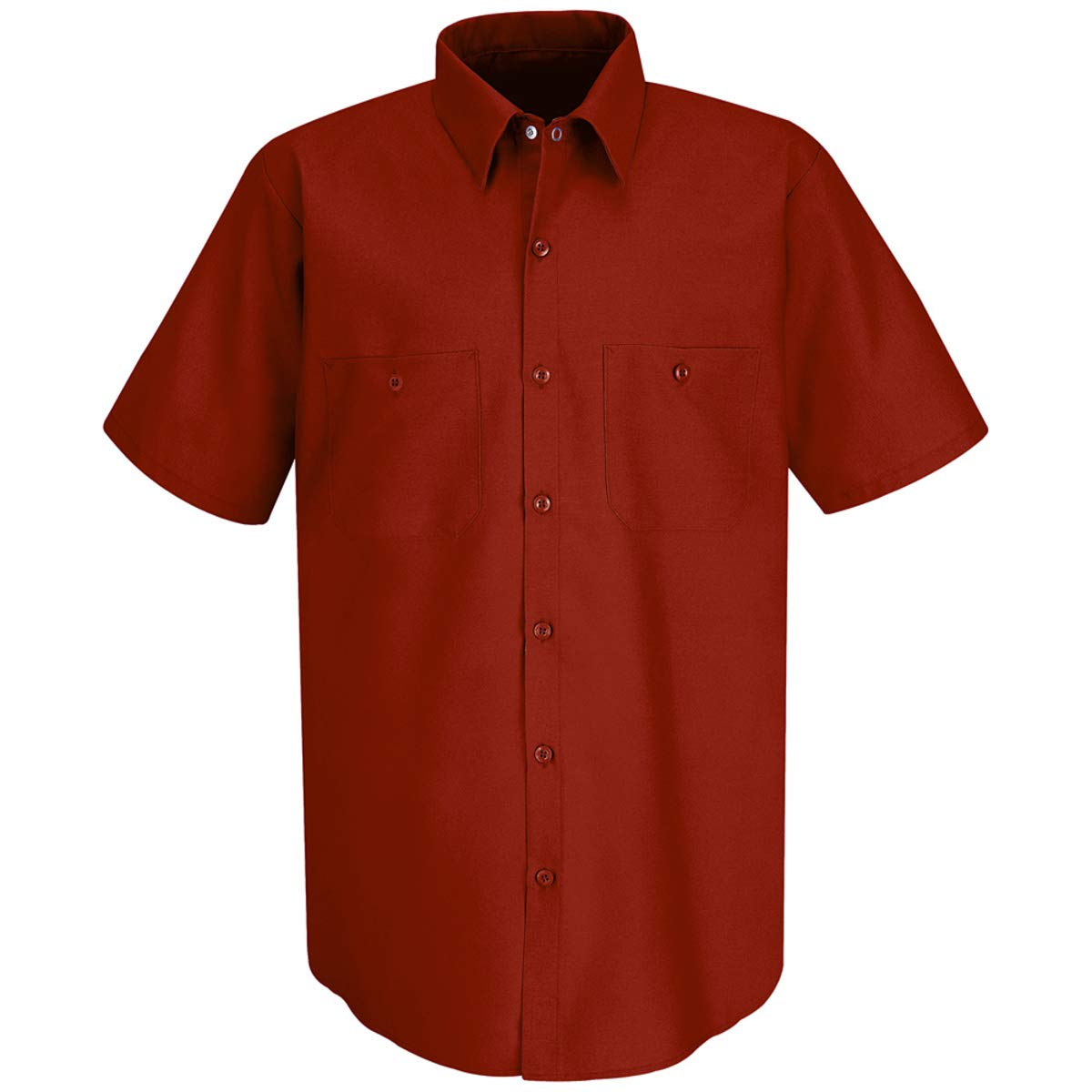 Red Kap Medium Red 4.25 Ounce Polyester/Cotton Shirt With Button Closure