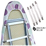 4 Ironing Board Cover Clips Elastic Fasteners Braces