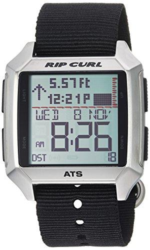 Rip Curl Men's Stainless Steel Quartz Sport Watch with Polyurethane Strap, Black, 24 (Model: A1135BLK1SZ ()