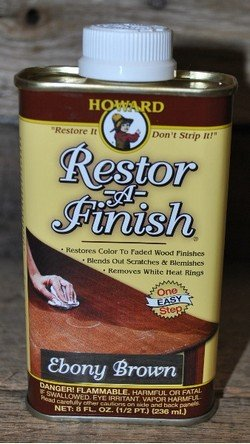 New Howard Restor-A-Finish Ebony Brown Color Wood Furniture Finish Restorer - Ebony Brown