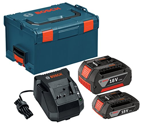 Bosch SKC181-303L 18-Volt Lithium-Ion Starter Kit with (1) 2.0Ah Battery and (1) 4.0Ah Battery, Charger and L-BOXX-3 by Bosch