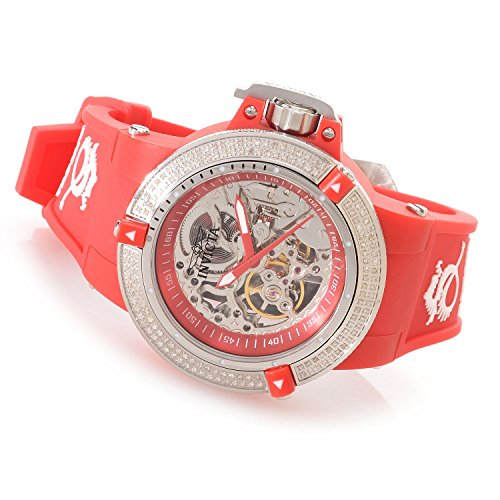 Invicta Womens Subaqua Noma III Anatomic Diamond Accented Seagull Mechanical Red Watch 16766