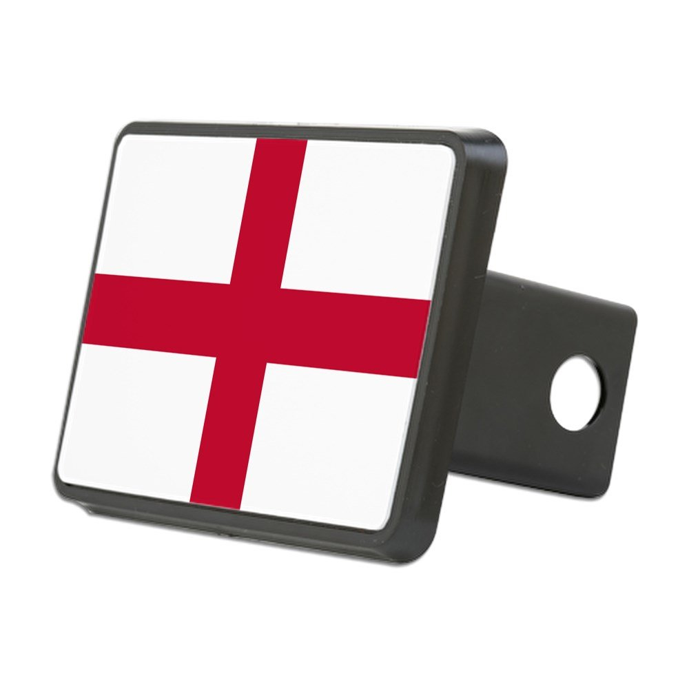 CafePress - NC English Flag - St. Geor - Trailer Hitch Cover, Truck Receiver Hitch Plug Insert by CafePress
