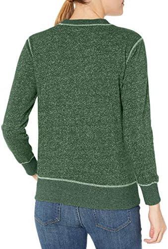 OTS NCAA Damen Seneca Rundhalsausschnitt Pullover, Damen, NCAA Women's Seneca Crew Neck Pullover, dunkelgrün, Small