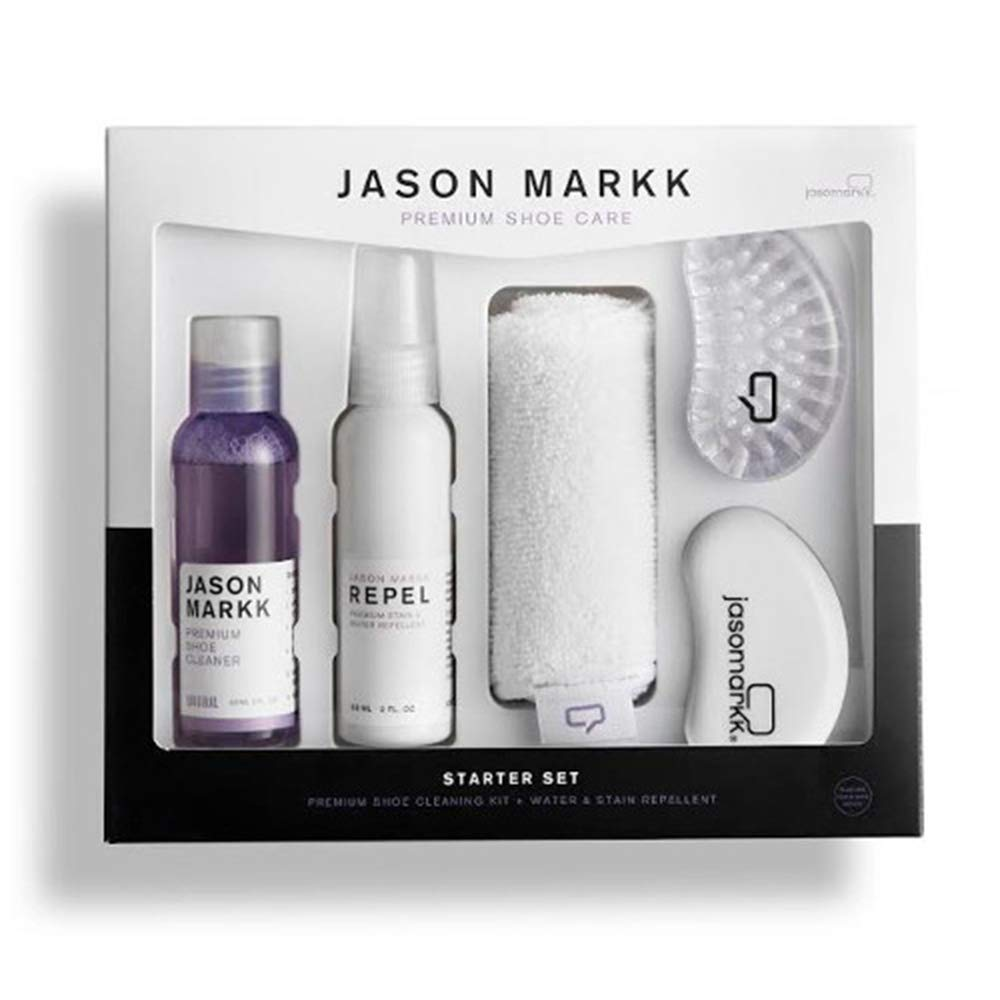 Jason Markk Starter Set Premium Shoe Cleaning Kit with Repel and Microfiber Towel Plus Brushes by Jason Markk (Image #1)
