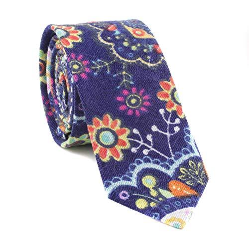 Acvip Hombre Corbata Floral Patr Azul FBFrqx