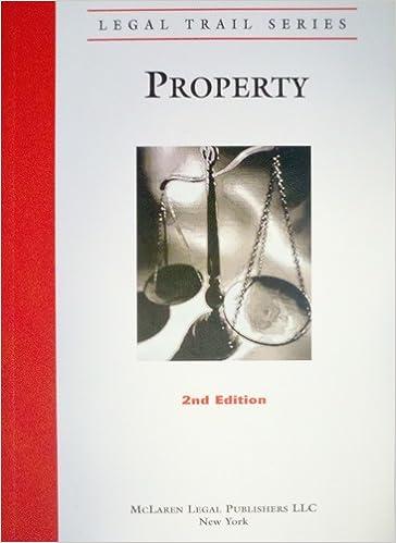 Legal Trail: Property (2nd Ed ): McLaren Legal Publishers