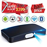 """Mini HD 3D Projector Multimedia 5.5""""~200"""" Home Video Theater 3000 Luminous Game Office Support 1080P WIFI Bluetooth HDMI USB SD Card VGA AV for Home Cinema TV Laptop Tablet iPhone Android"""