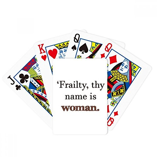 DIYthinker Frailty Names Woman Shakespeare Poker Playing Card Tabletop Board Game Gift