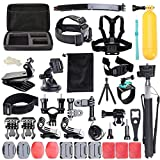 50PCS Multifunctional Action Camera Mounts Sports Camera Set with Case Accessories for Gopro Harmily