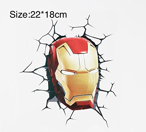 Mesasa Avengers Iron man 01 Decal 3D Break Through Water Pro