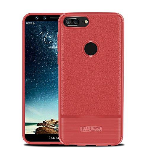 Funda Huawei Honor 9 Lite,Funda Fibra de carbono Alta Calidad Anti-Rasguño y Resistente Huellas Dactilares Totalmente Protectora Caso de Cuero Cover Case Adecuado para el Huawei Honor 9 Lite D
