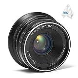 7artisans 25mm F1.8 Manual Focus Prime Fixed Lens for Canon EOS-M Mount M1 M2 M3 M5 M6 M10 (Black)