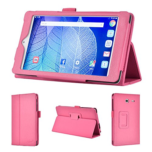 wisers 2016 ALCATEL ONETOUCH POP 7 LTE 7-inch tablet case / cover, pink
