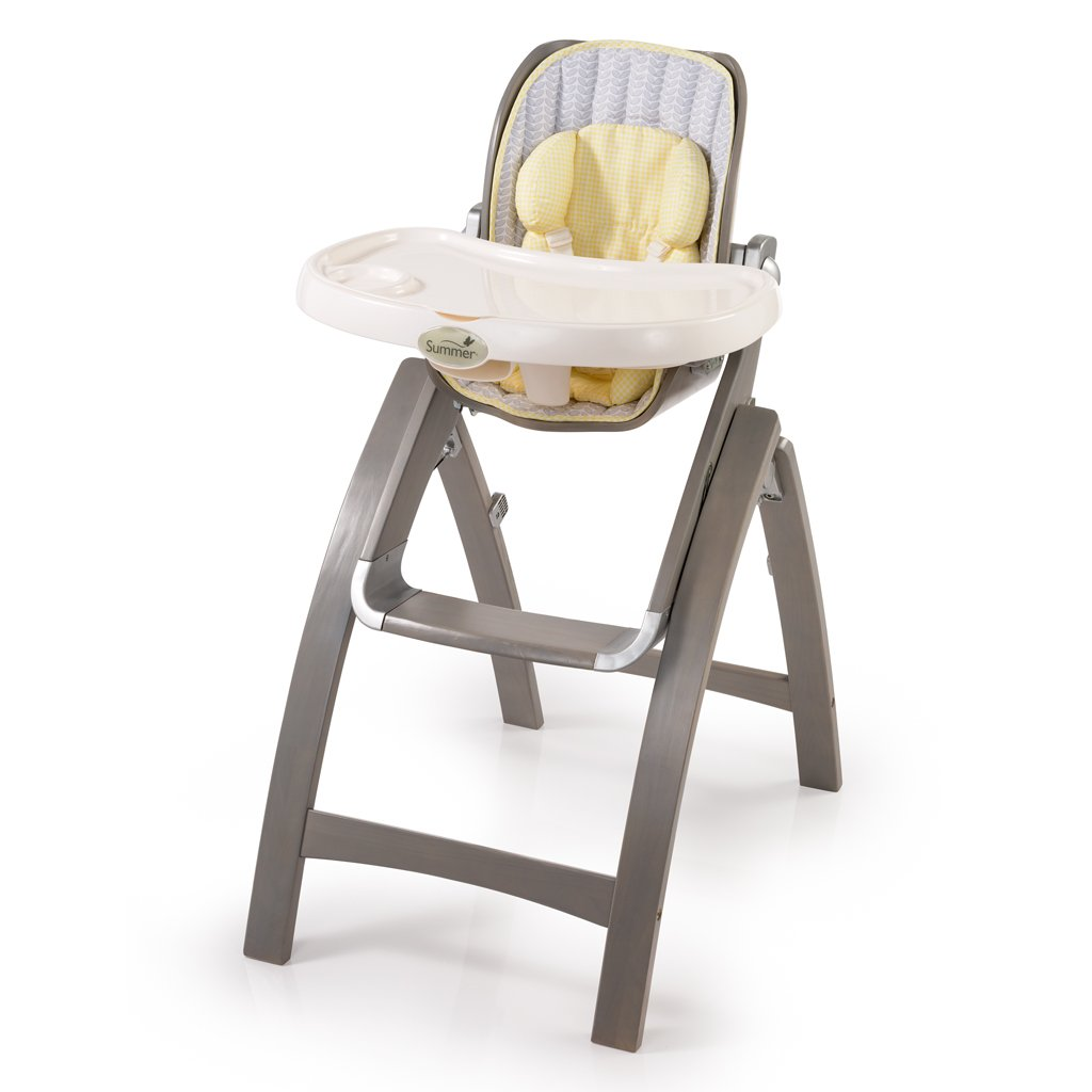 $89.99 (was $189.99) Summer Infant, Inc. Summer Infant Bentwood High Chair Chevron Leaf, Grey