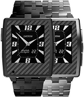 product image for Slickwraps Gun Metal Carbon Fiber Wrap for Pebble Steel Watch - Retail Packaging - Gun Metal Carbon Fiber