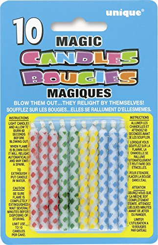 Diamond Relighting Birthday Candles Assorted