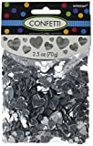 Amscan Elegant Silver Hearts Party Confetti Decoration, Foil, 2 1/2 Oz. Childrens (12 Piece)