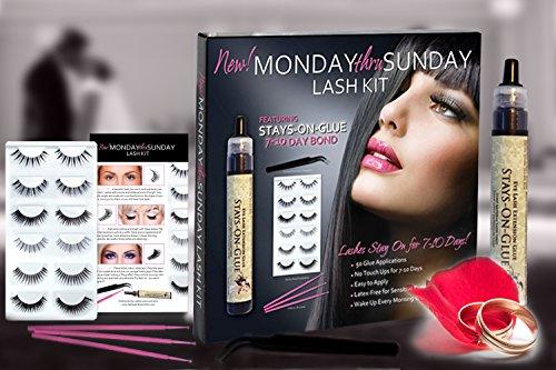 Apply False Eyelashes (Bridal False Eyelash Set | Waterproof Lash Glue | Easy to Apply Latex Free for Sensitive)