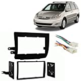 2008 toyota stereo - Fits Toyota Sienna 2004-2010 Double DIN Stereo Harness Radio Install Dash Kit