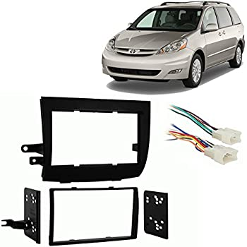 fits toyota sienna 2004 2010 double din stereo. Black Bedroom Furniture Sets. Home Design Ideas