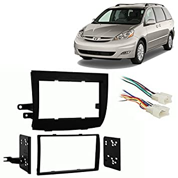 51TTw4vTQWL._SY355_ amazon com fits toyota sienna 2004 2010 double din stereo harness