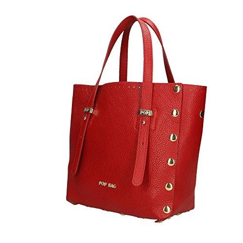 Dollar Impression Bags Cm Sac 23x23x12 Italy femme POP en à in véritable Made cuir Noir main P7pWwqHC