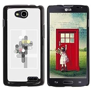 Be Good Phone Accessory // Dura Cáscara cubierta Protectora Caso Carcasa Funda de Protección para LG OPTIMUS L90 / D415 // Modern Art Frame Rectangle Circles