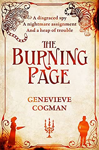 book cover of The Burning Page