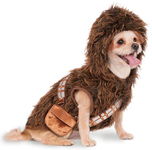 Star Wars Pet Costumes (Rubies Costume Star Wars Chewbacca Hoodie Pet Costume, Medium)