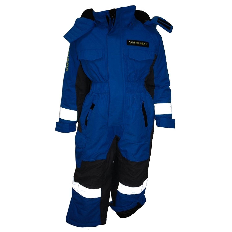 Outburst - Overall für Mädchen und Jungen Schneeanzug Funktionsanzug 3.000 mm Wassersäule wasserdicht, blau
