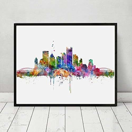Amazon.com: Pittsburgh City Wall Hanging Pittsburgh