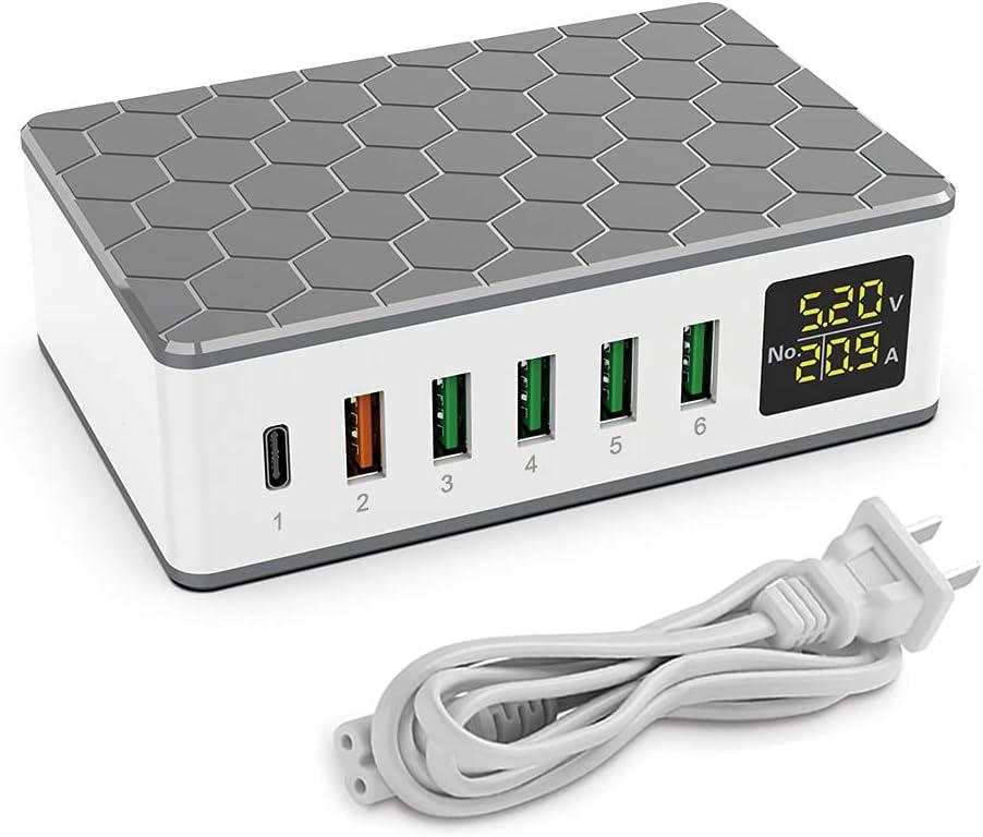 Flylion 6-Port 20W USB-C Fast Charging Block $22 Coupon