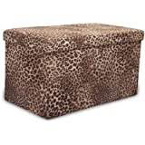 Leopard Print Fabric Storage Box Available in Large