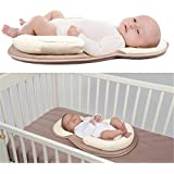 Babies Bloom New-Born Anti-Rollover Mattress Baby Pillow, Multicolor