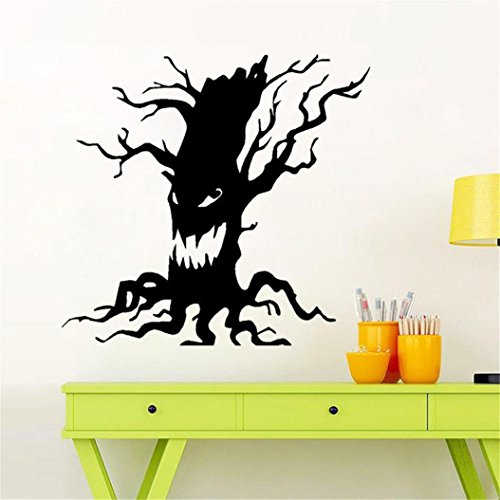 Clearance Halloween Sticker,Han Shi Happy Household Room Removable Wall Paper Mural Decor (M, B)]()