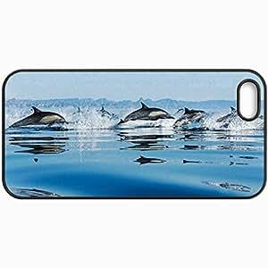 Fashion Unique Design Protective Cellphone Back Cover Case For iPhone 5 5S Case Dolphin Black