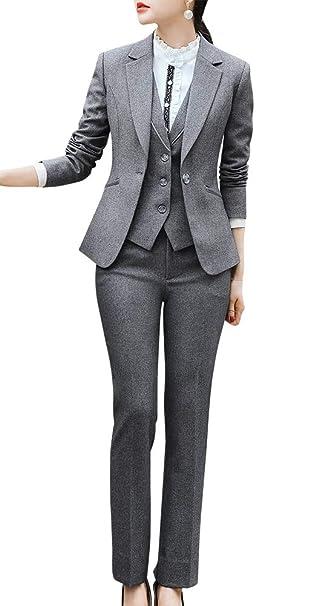 Blazer Formal de Tres Piezas para Mujer, Traje de Oficina ...