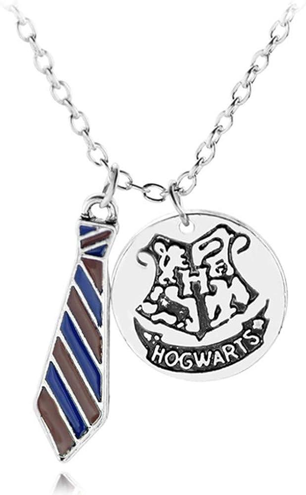TUDUDU Moda Hogwarts Insignia Corbata Collar Gryffindor Hufflepuff ...
