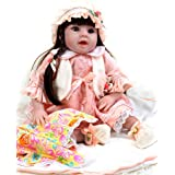 """Sweet Collection Lifelike Reborn Baby Doll Princess 8-Piece Gift Set 22"""" Soft Vinyl Weighted Realistic Girl Interactive Birthday&Xmas Gift"""