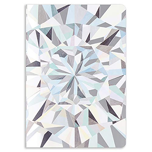 Erin Condren Designer Petite Journal with Dot Grid Pages - Neutral Kaleidoscope. Great for Drawing and Organizing Bullet Points, to Do Lists, Scheduling, and More