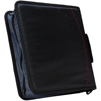 Case-it Mighty Zip Tab 3-inch Zipper Binder, Black, D-146-blk 1